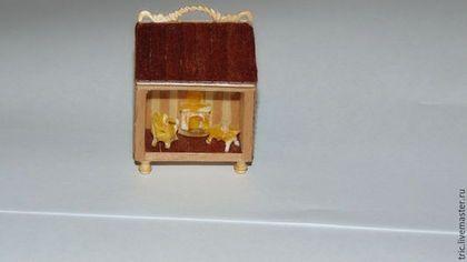 Кукольный дом ручной работы. Ярмарка Мастеров - ручная работа. Купить румбокс 1:144. Handmade. Коллекционная миниатюра, дерево
