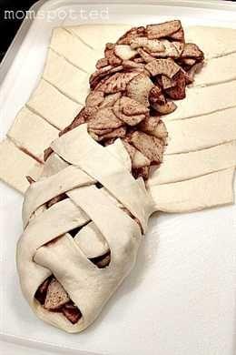 Apple Pie Crescent Danish -> gevlochten brood met inhoud, kan ik nog oneindig mee variëren!