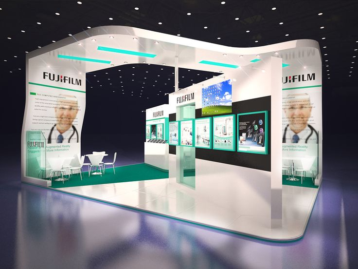 Exhibition Booth Header : Fuji film exhibition stand design on behance display