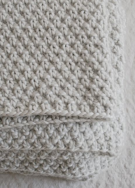 Free Pattern: Double Seed Stitch Blanket by the purl bee