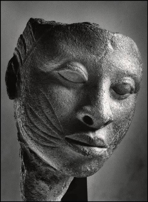 a—fri—ca:  Terra-cotta Head. Ancient Ife, Nigeria Photo © Herbert List - Magnum Photos