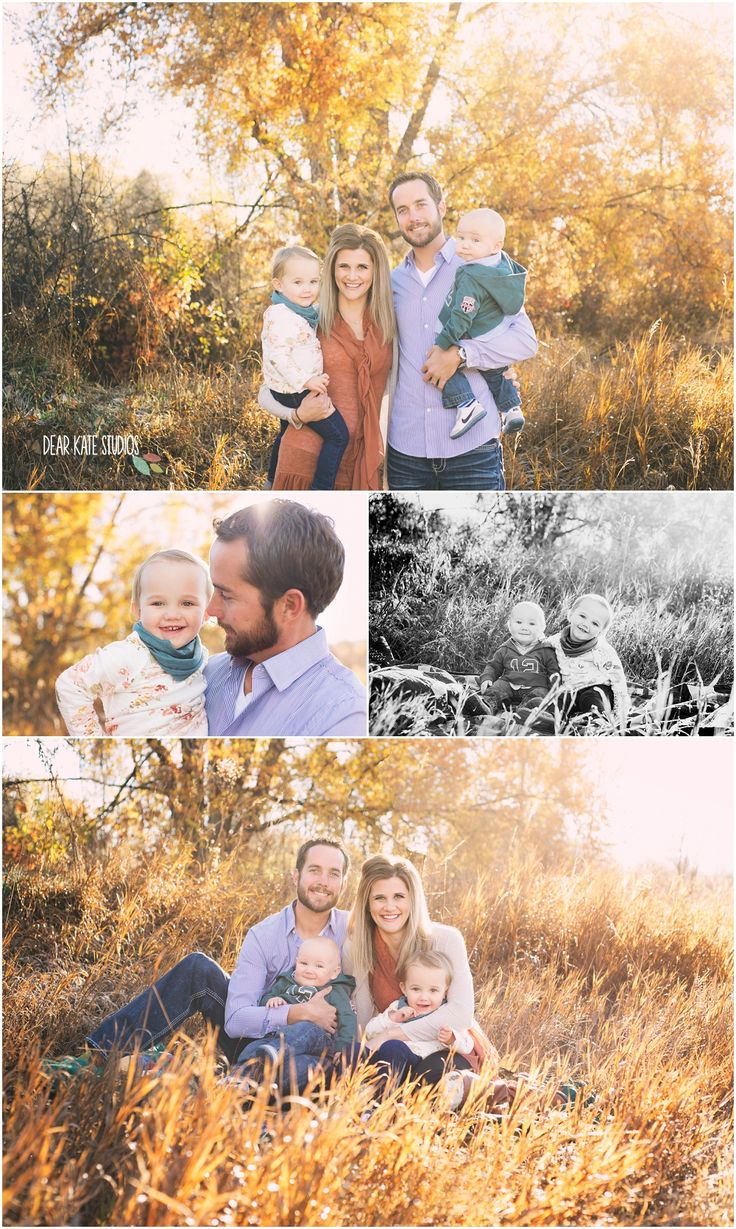 Fort collins fall family Pictures, family of 4 poses