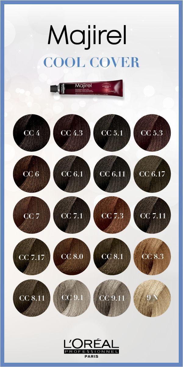 Majirel Cool Cover gives cool hair color