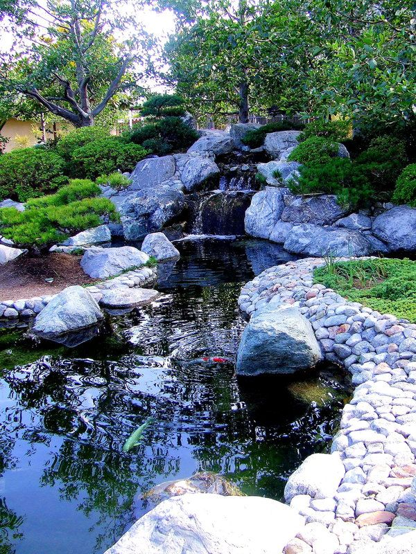 17 best images about backyard waterfalls and streams on for Koi pond japanese garden