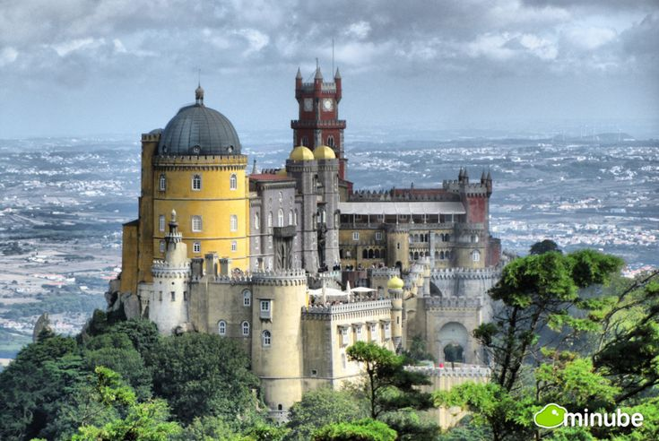 """Pena National Palace, Portugal considered one of The Top 10 Marvels of the Modern World 