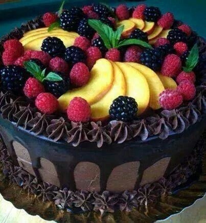 8 best Triple Chocolate Fruit Top Cakes images on Pinterest