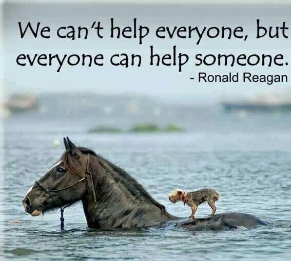 Ronald Reagan - We cant help everyone, but everyone can help someone #Volunteer #CommunityInvolvement