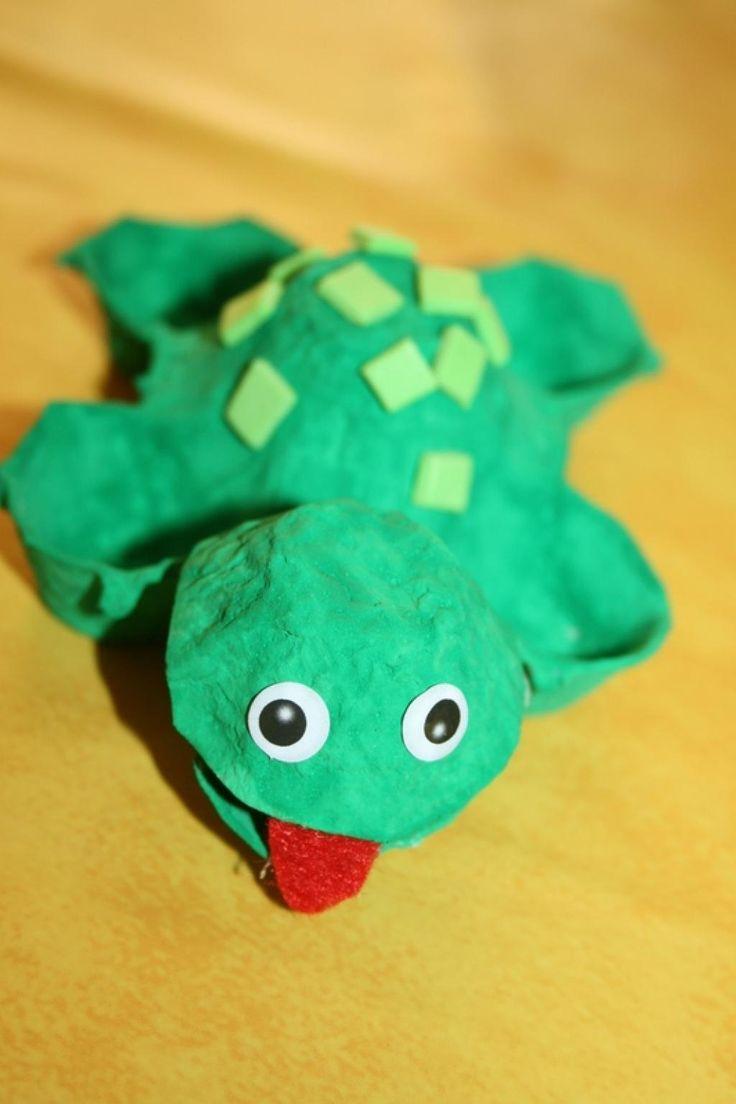 Bricolez de belles tortues colorées avec des cartons d'oeufs! Les enfants vont adorer! - Brico enfant - Trucs et Bricolages