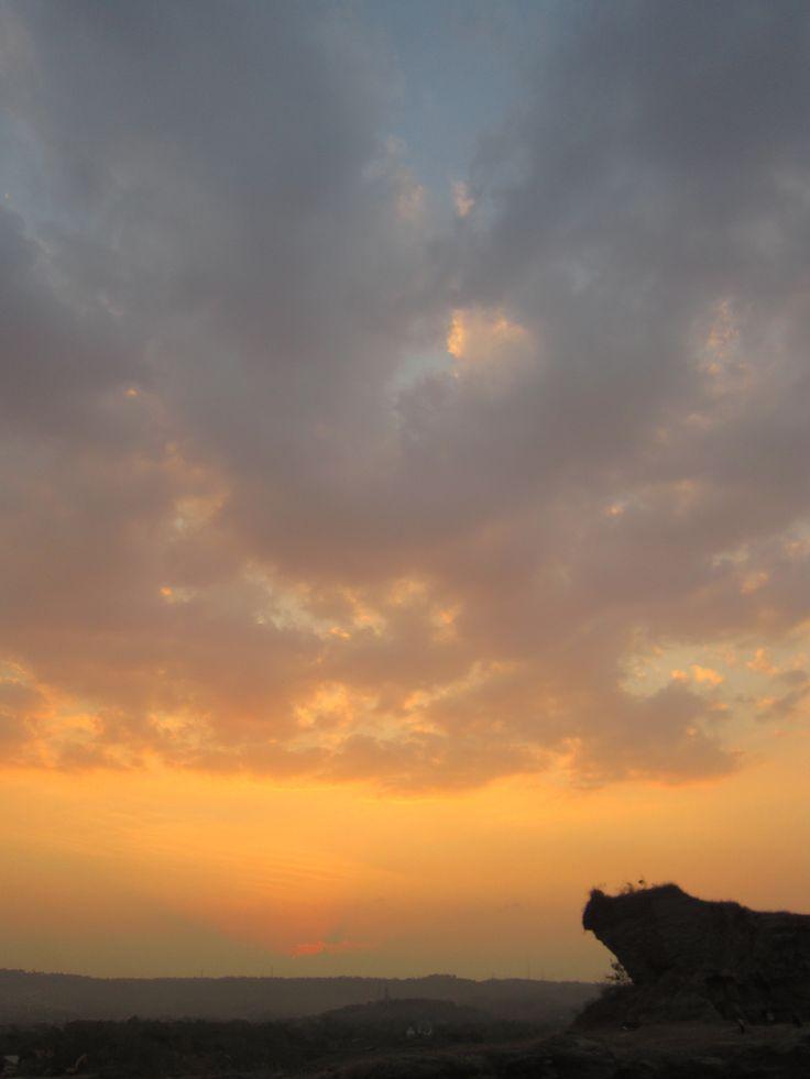 senja sore dari Brown #Canyon, Semarang, Indonesia