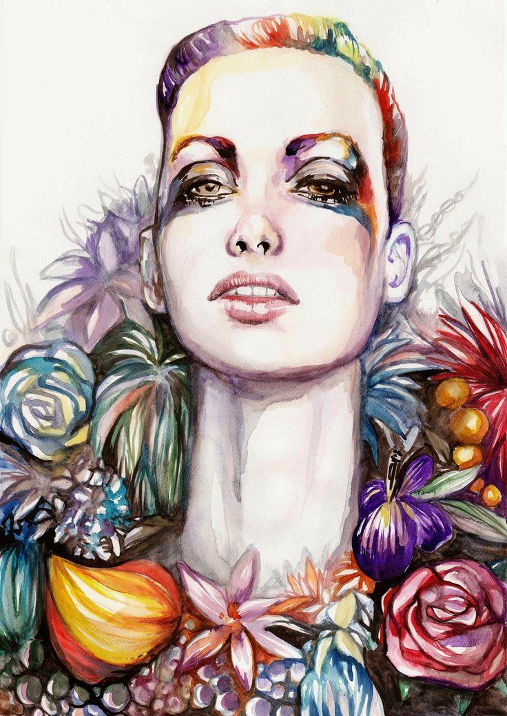 Fashion Illustration / Beauty Illustration, Watercolour