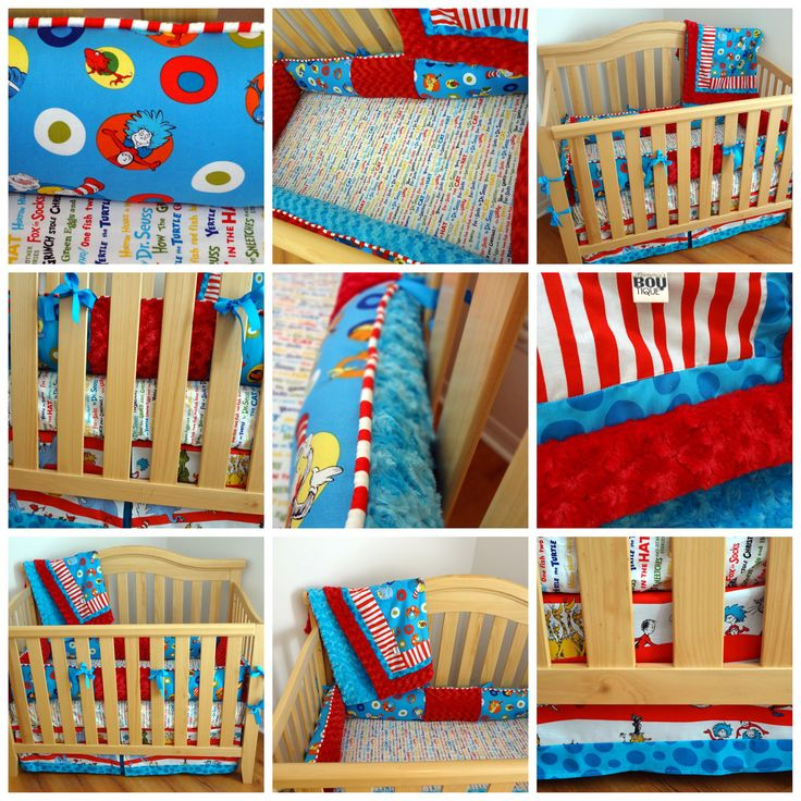 3 Piece Dr Seuss Crib Bedding Set Made To Order By MommasBoytique, $260.00