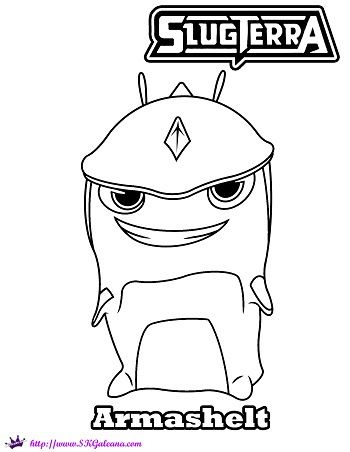 slugterra armashelt coloring page and wallpaper skgaleana