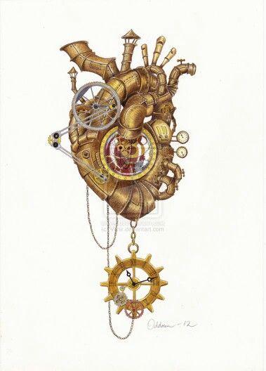 Стимпанк сердце рисунок