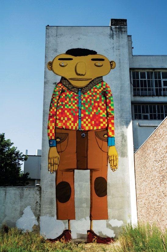 Brazilian street artists Os Gêmeos