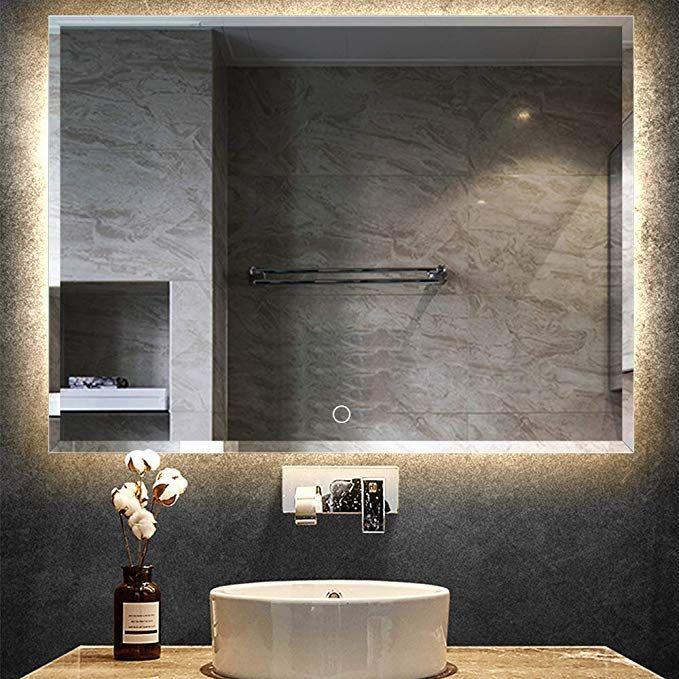 Leafmirror Led Mirror Backlit Light Bathroom Anti Fog Wall Mounted