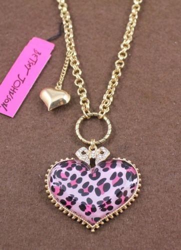 Betsey Johnson Pink Leopard Necklace