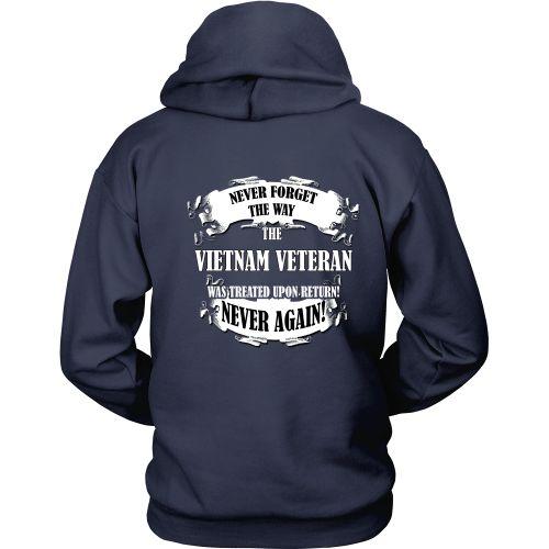"Veterans T-shirt - Custom design ""Never Forget"" Vietnam Veteran T-Shirt"