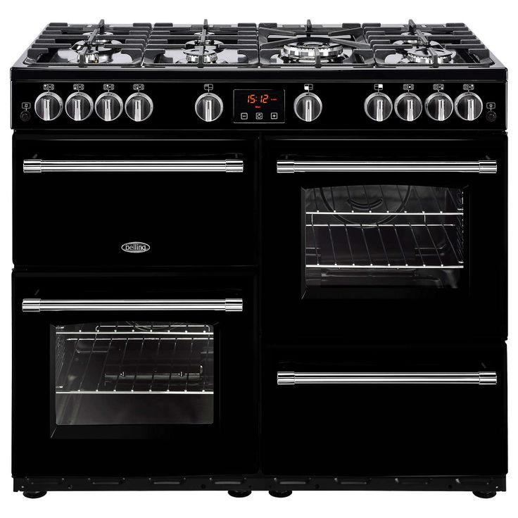 BuyBelling Farmhouse 100G Gas Range Cooker, Black Online at johnlewis.com
