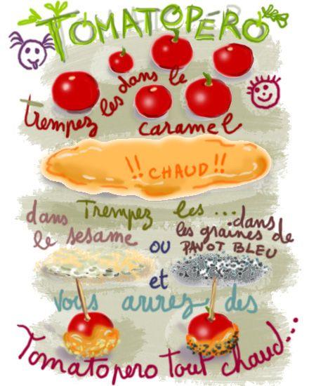 Tomates caramélisées apéro