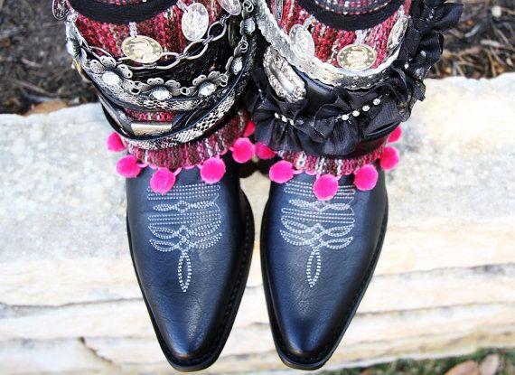 Décoré des bottes de cow-boy boho bottes bottes par Bootsologie