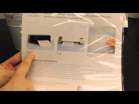 Printable Clear Sticker Paper (new from Silhouette America) - product video #Silhouette