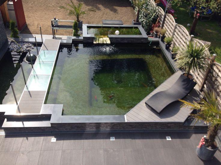 Edle Teichanlage zum Entspannen