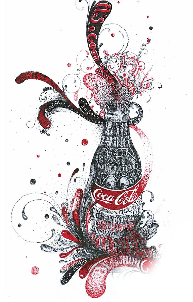 Image detail for -Stefan Chinof – Typography in Action « Coca-Cola Art Gallery