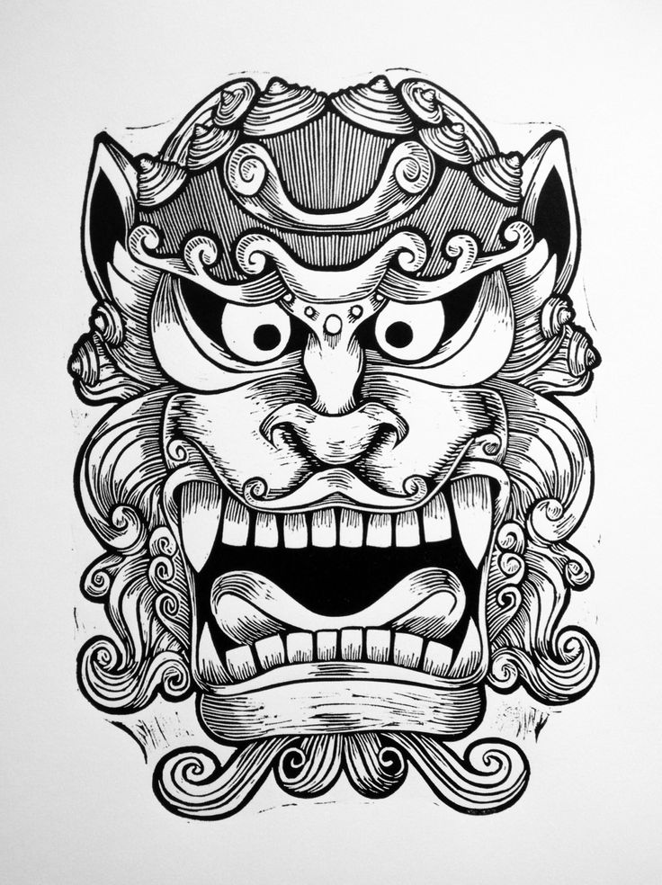 Chinese Foo Dog [Shi] Mask