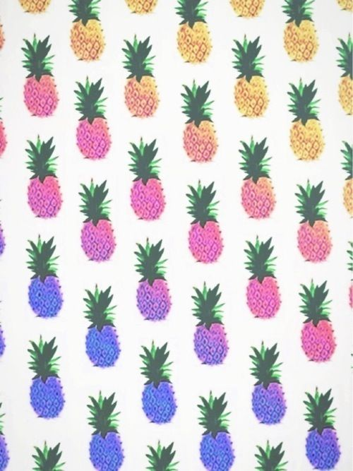 love the middle pineapples with pink and purple in it