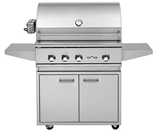 Delta Heat 32 Inch Propane Gas Grill On Cabinet with Infrared Rotisserie and Sear Zone -- BEST VALUE BUY on Amazon #BarbecueGrill