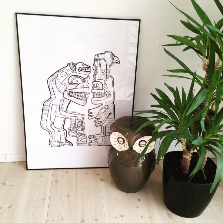 Cool, grønlandske tupilakker designet af F.F. Rodnar :-) #plakater #posters #kort #cards #design