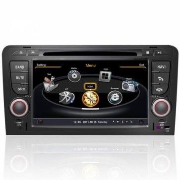 Autoradio Audi A3 - Autoradio GPS 2 Din DIVX DVD CD USB SD RDS Bluetooth IPOD 3G TV Pour Audi A3 (2003-2012) Prix spécial : 274,99 €