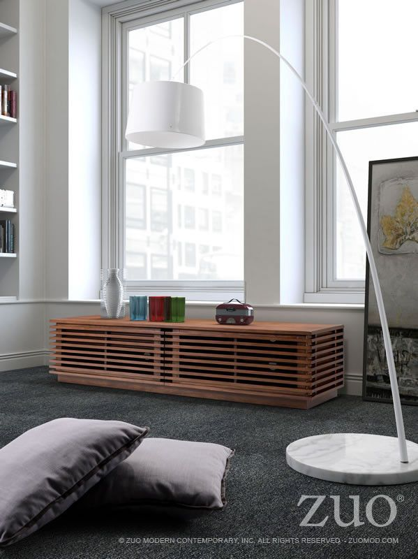 Zuo Linea Wide TV Stand Media ConsolesContemporary Living RoomsTv Stands Modern