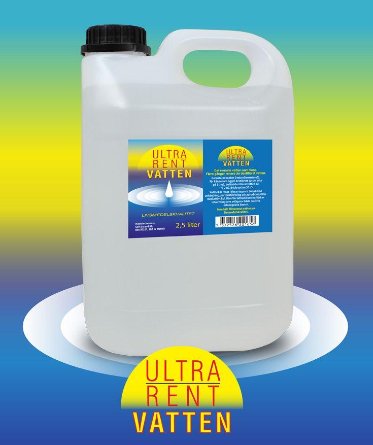 Rent vatten som behandlats ännu en gång så att alla positiva och negativa joner som funnits kvar eliminerats.