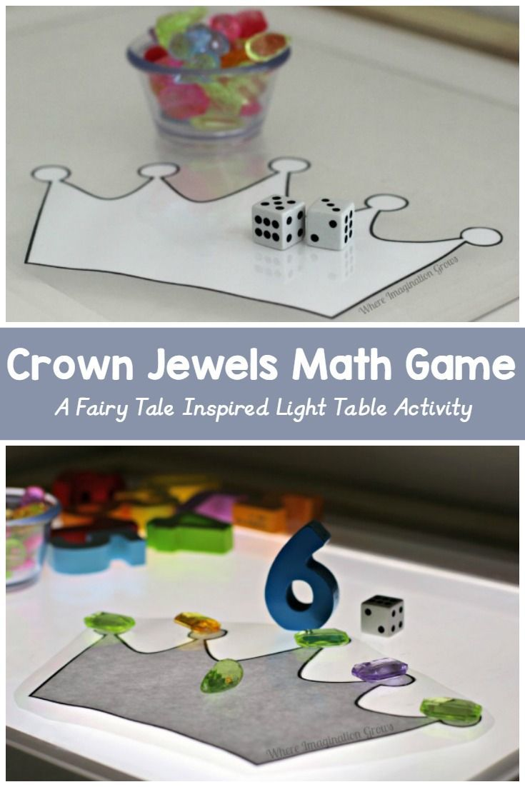 Child craft light table - Fairy Tales Light Play Crown Jewels Math Game For Kids