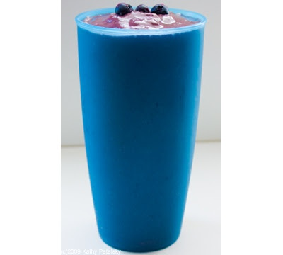Triple Threat Acai Smoothie  vegan, serves two or one acai-thirsting person    2 Sambazon Acai Frozen Smoothie packs  *What are these? Link Here.  1 bottle (10.5 oz.) Sambazon Acai Juice, Trinity Blend Flavor  2 handfuls ice (coconut water ice cubes preferred)  1/2 cup frozen organic blueberries  1 ripe banana, raw  2/3 cup soy milk  optional:  1 tsp agave syrup  1 scoop Macro Greens green superfood powder