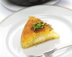 Knafeh (cheesecake libanais à la fleur d'oranger et pistaches)