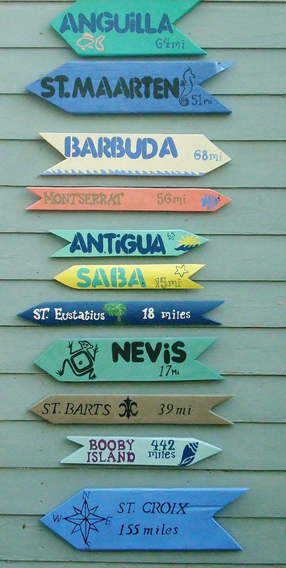 SIGNS SET OF 3  Beach Sign Island Sign and/or any by TheRightJack, $60.00