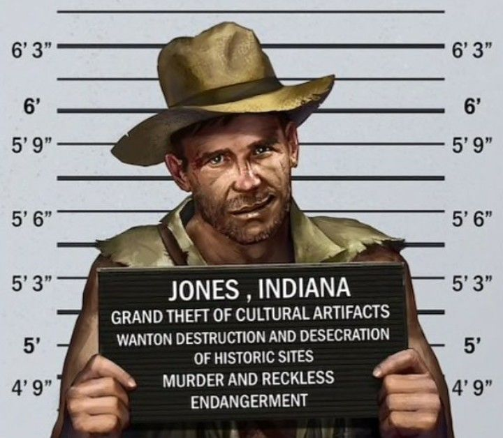 Indiana jones prison mugshot | Indiana Jones Art in 2019 | Harrison