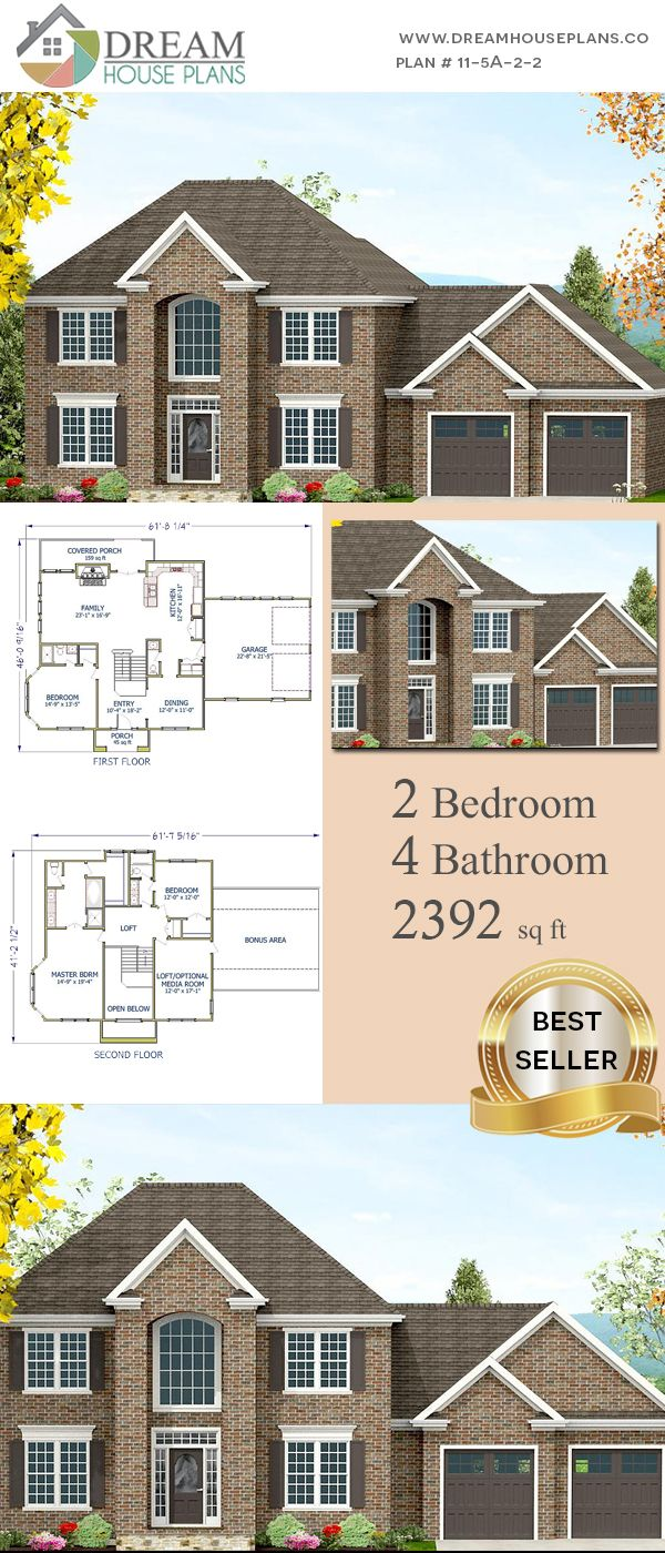 Dream House Plans: Unique Custom Luxury 2 Bedroom, 2392 Sq. Ft. House Plan  With Porches. Shop Our Exclusive Collection Of Small, Large, Simple And  Luxury ...