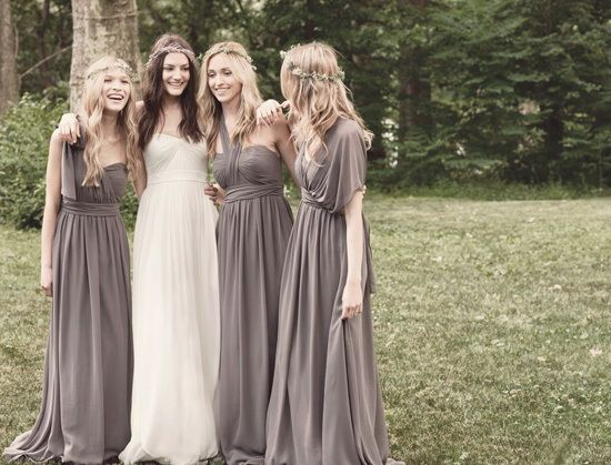 Trendy Bridesmaid Styles: Grecian Bridesmaid Dresses | Wedding ...
