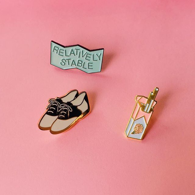From Instagram - @darlingdistraction Let us know if you want us to sell these pins at http://tusenpins.com.
