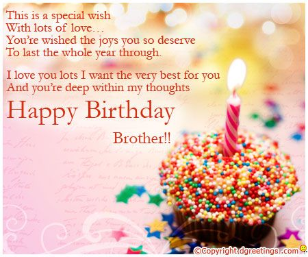 The 25 best Happy birthday brother quotes ideas – Happy Birthday Card for My Brother