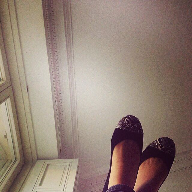 Shoes up in the air