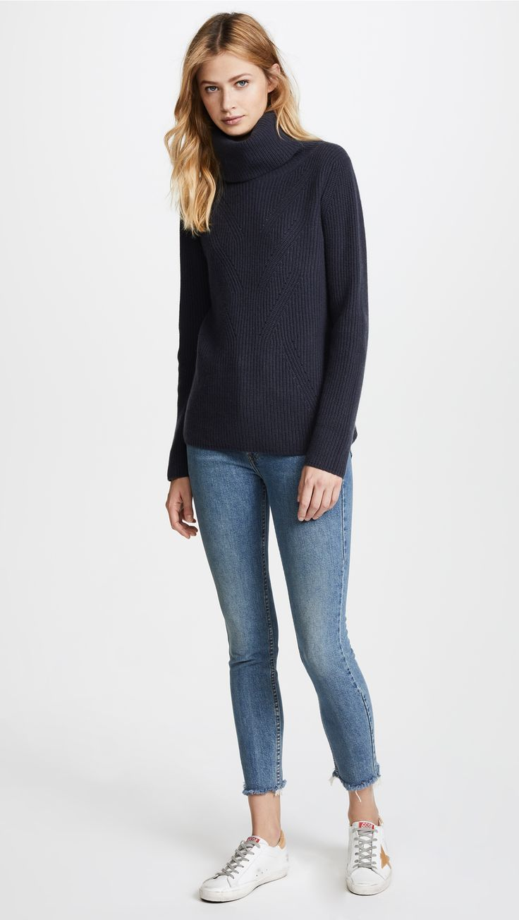 TSE Cashmere Long Sleeve Roll Neck Sweater | SHOPBOP