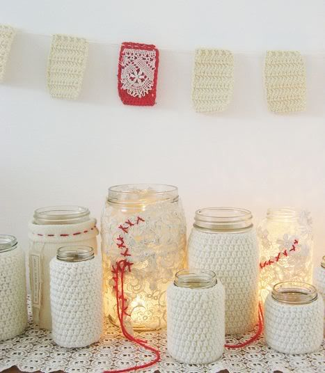 50 Ways to Re-purpose and Reuse Glass Jars {Saturday Inspiration & Ideas} - bystephanielynn