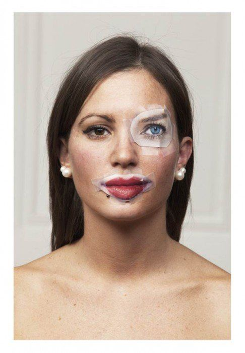 Quirky And Offbeat Portraits Of Faces Pasted With Magazine Features - DesignTAXI.com