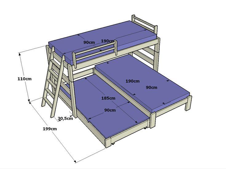 Altura cama pesquisa google ergonomia pinterest quarto infantil quartos e dicas - Medidas de camas infantiles ...