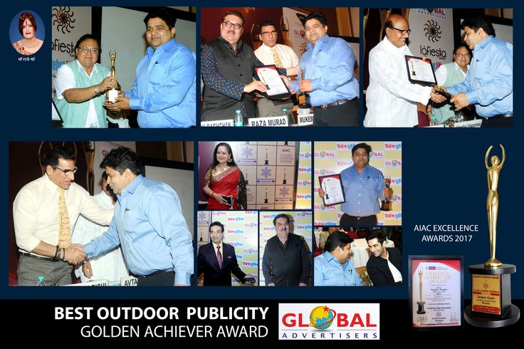 "Global Advertisers proud to receive AIAC Excellence Awards ""Best Outdoor Publicity Golden Achiever Awards 2017"" #ExcellenceAward2017 #OutdoorPublicity"