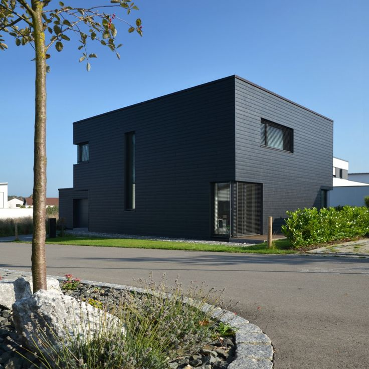 Einfamilienhaus - Plusenergiehaus | b+c - (Fassade Holzhaus)